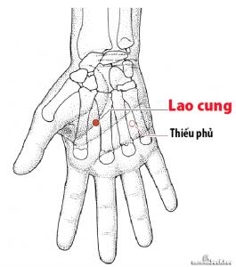 Huyệt Lao cung